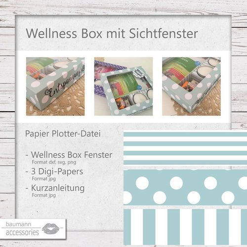 WellnessBox mit Sichtfenster