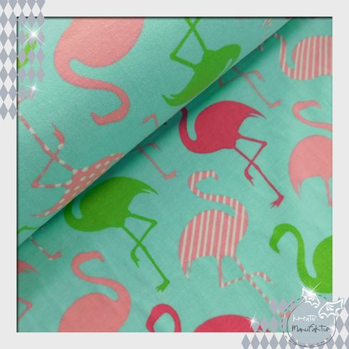 Jersey Flamingo Party mint