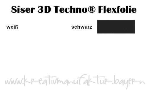 Flexfolie Siser 3D Techno