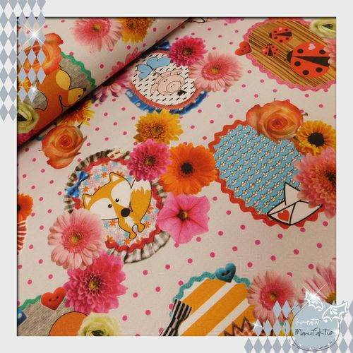 Canvas Fabric Fever Cherry Picking