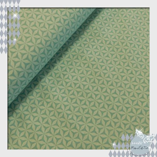 Baumwollstoff Flurry mint Linie: Rustique Winter