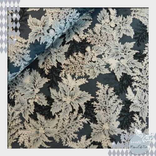 Baumwollstoff Holiday Flourish ebony