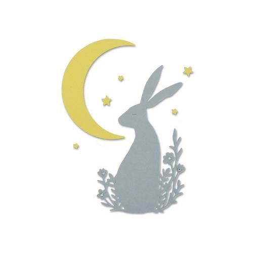 Sizzix Thinlits Midnight hare/ Mondscheinhase
