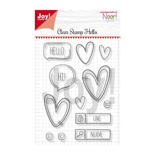 Stempel JC Clearstamp Hello