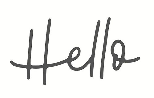 Stempel May & Berry Holzstempel Hello