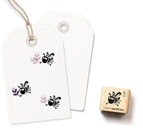 Ministempel Cats on appletrees Bienchen Lele