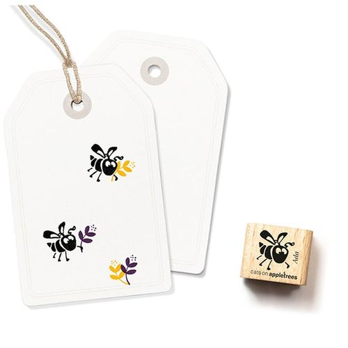 Ministempel Cats on appletrees Bienchen Ada