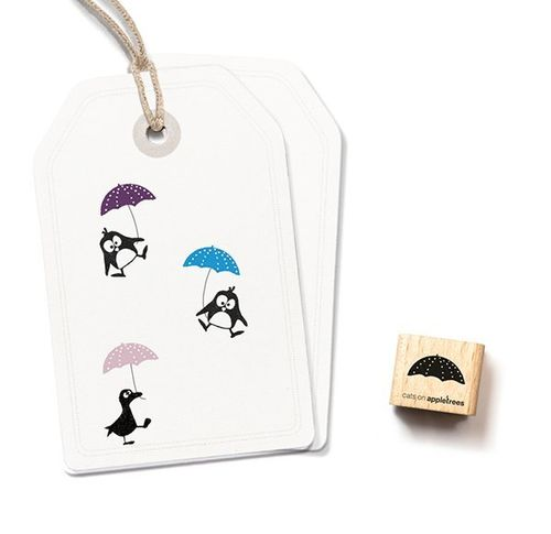 Ministempel Cats on appletrees Schirmchen