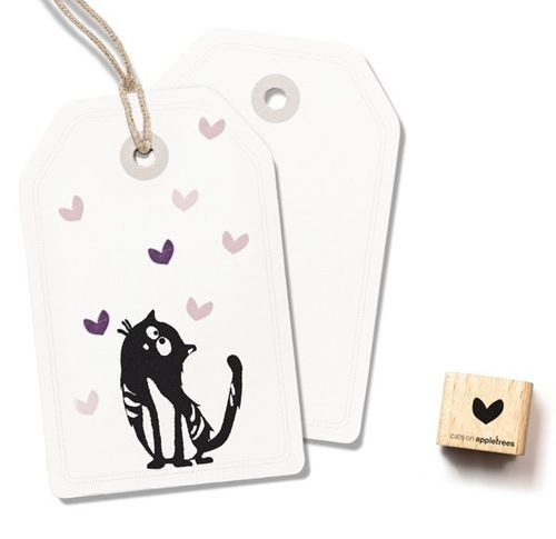 Ministempel Cats on appletrees Mini-Herz 2