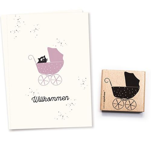 Stempel Cats on appletrees  Kinderwagen