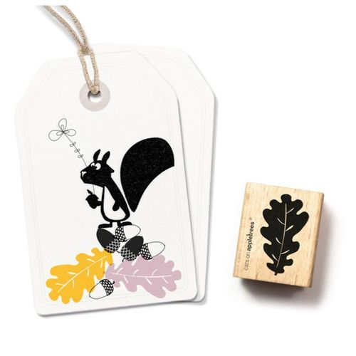 Stempel Cats on appletrees  Holzstempel Eichenblatt
